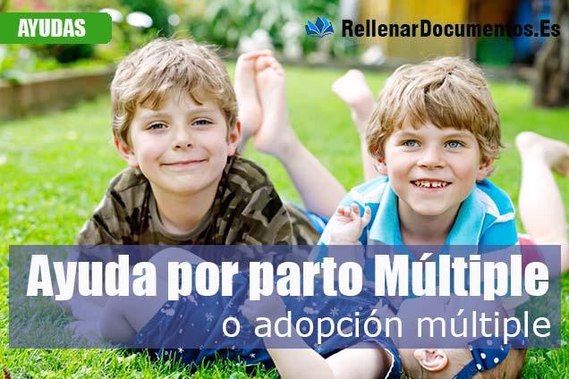 Ayuda por parto o adopción múltiple