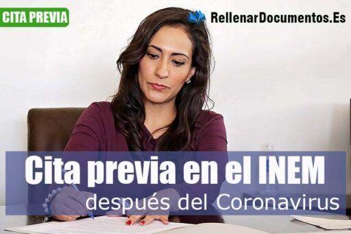 cita previa en el INEM después del Coronavirus