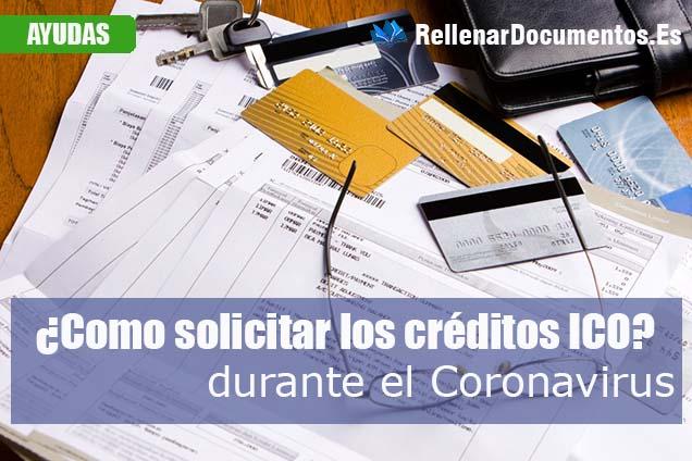 solicitar los créditos ICO