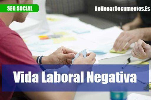 informe de la vida laboral negativa