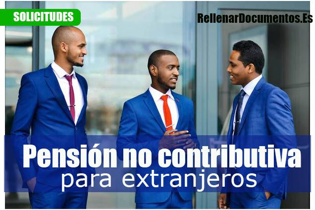 pension no contributiva para extranjeros
