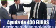 subsidio especial por desempleo de 430 euros