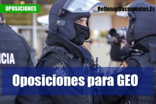 Grupo Especial de Operaciones GEO oposiciones