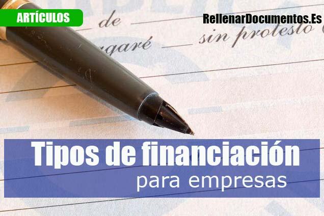 Tipos de financiación para empresas