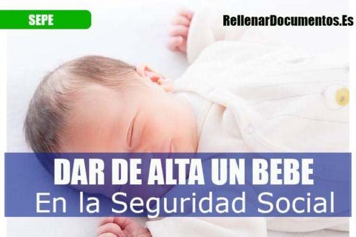dar de alta a un bebé en la seguridad social