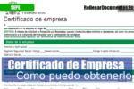 obtener el certificado de empresa del SEPE