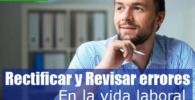 rectificar y revisar errores