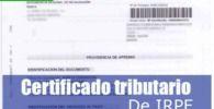 certificado tributario de IRPF