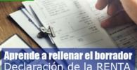 borrador de la declaración de la renta