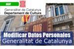 datos personales en la GenCat